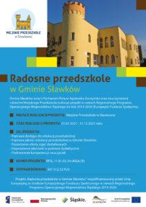 2021_Plakat_A3 Radosne przedszkole w Gminie Sławków